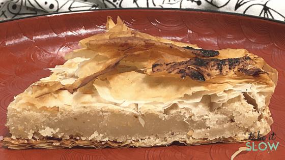 1 parte de galette frangipane vega et gourmande