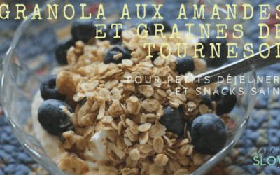 Granola amandes et graines de tournesol