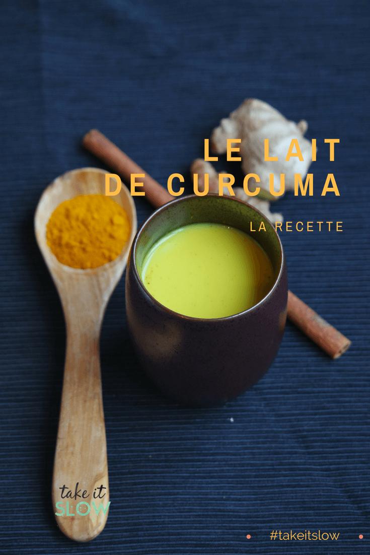 recette du lait de curcuma